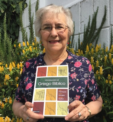 Ann Henriques with her new book
